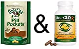 Ocu-Glo Rx Vision Improvement Suport for Medium & Large Dogs 90 Gelcaps with Greenies Pill Pocket Chicken Capsules
