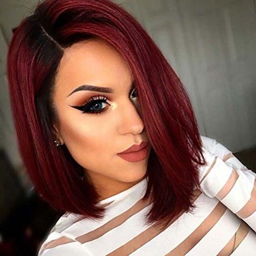 AMA(TM) Glueless Short Straight Bob Lace Front Brazilian Virgin Human Hair Wigs With Baby Hair High Density Natural For Black Women (Used Cosplay Costumes For Sale)