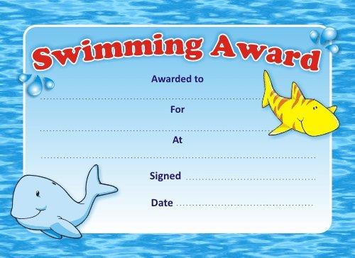swimming certificates template