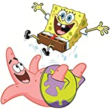 9 Inch Patrick Star Starfish Spongebob Squarepants Removable Peel Self Stick Adhesive Vinyl Decorative Wall Decal Sticker Art Kids Room Home Decor Girl Boy Children Bedroom Nursery Baby 9 x 7 Inch