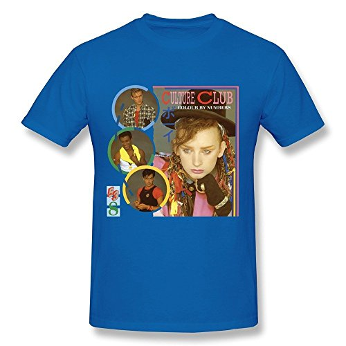 Men's Culture Club Band Roy Hay Poster Short Sleeve Tshirt Size M RoyalBlue (Walking Dead Dog Merchandise compare prices)