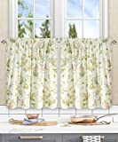 Simple Comfort Abigail Traditional Hydrangea Floral Print (Tailored Tier Curtains, 56 x 24', Multi)