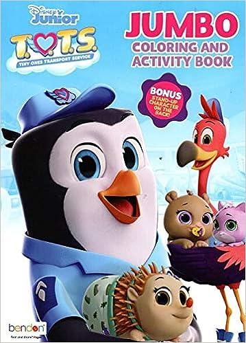 Disney Junior Jumbo Coloring Activity Book T O T S Tiny Ones Transport Service Disney Junior Bendon 0880799712533 Amazon Com Books