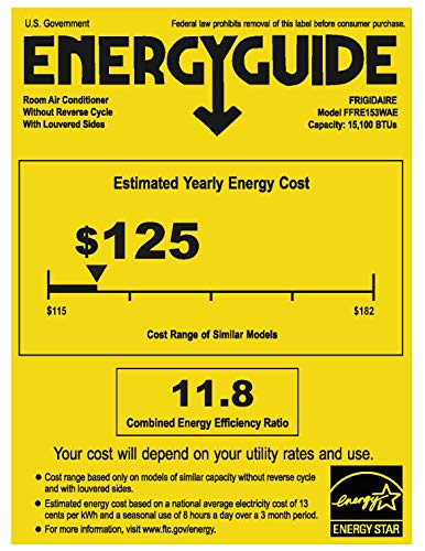 Frigidaire Energy Star 15,000 BTU 115V Window-Mounted for sale  Delivered anywhere in USA
