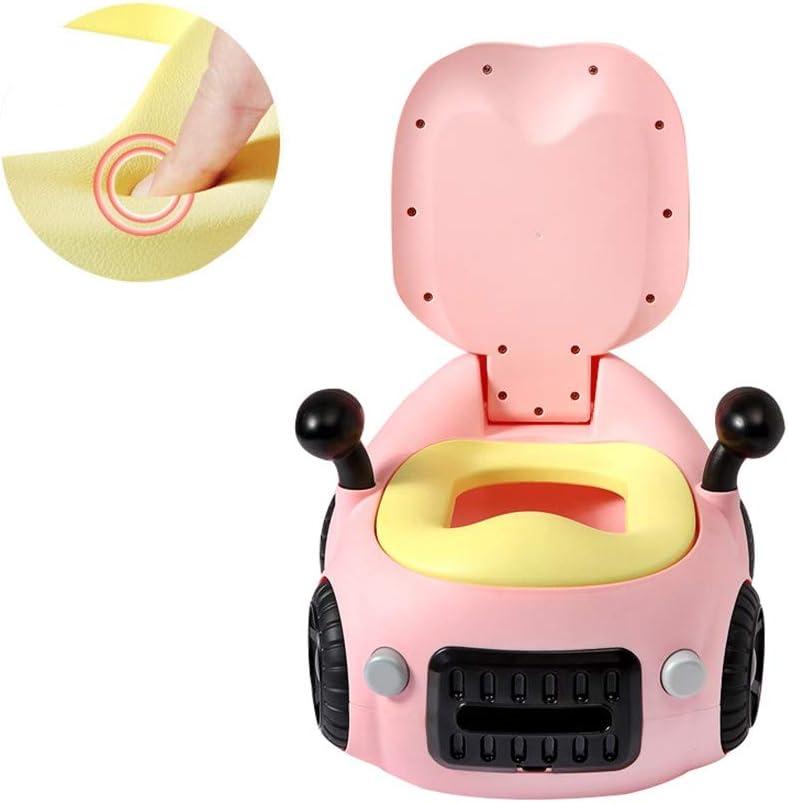 QFbp Pot De Cuvette De Toilette Enfant Voiture Imitation Coussin PU Double Accoudoir pour B/éb/é 1-6 Ans