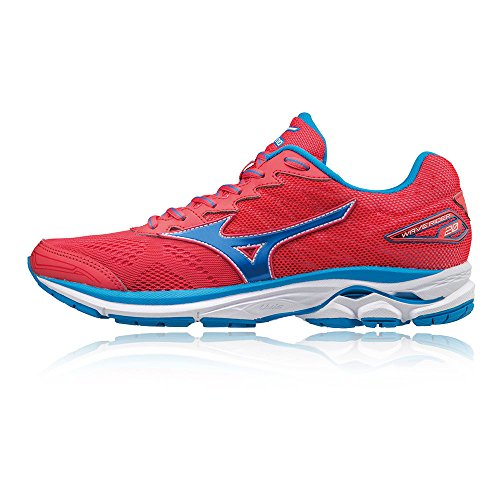 Mizuno Women's Wave Rider W Running Shoes, Blue Red
