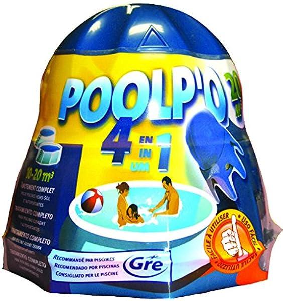 Gre 08013A - Poolpo para piscinas 10-20 m3 (tratamiento todo en uno): Amazon.es: Jardín