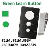 Craftsman Garage Door Opener Remote Control Transmitter for Green 3 Button Part 139.53970SRT 139.5397 139.53971SRT 139.53971 139.53973SRT 139.53973 139.53879 K1026 HBW1136 LiftMaster 81LM 82LM 83LM
