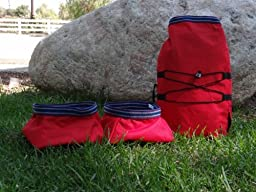 Pet Travel Bowls with Bag - Easiest way to take your dog food camping!