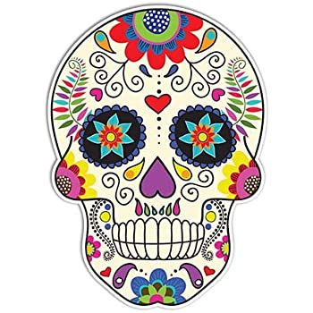 Amazon Com Sugar Skull Sticker Day Of The Dead Decal By