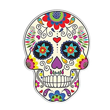Amazoncom Sugar Skull Sticker Day Of The Dead Decal By Megan J