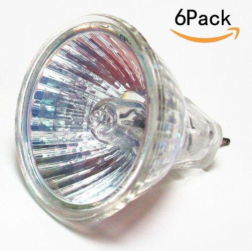 CTKcom Halogen Light Bulbs(6 pack)- MR11 12Volt 10Watt Halogen Lamp, 30 Degree Beam Spread Precision Halogen Reflector Fiber Optic Light Bulb 10W 12V,6 pack - 30 Degree Beam