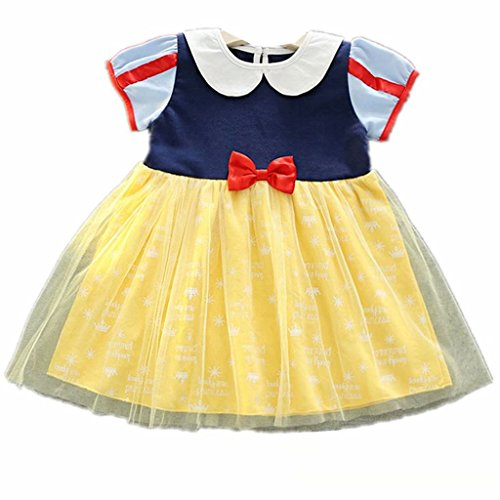 Tsyllyp Little Girls Snow White Dress Cosplay Tutu Costumes W/Shawl