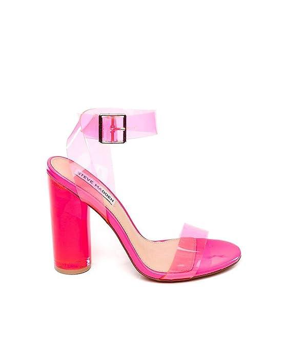 Sandalias Steve Madden de color rosa fosforito
