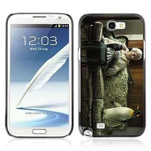 YOYOSHOP [Funny Old Woman & Penguin] Samsung Galaxy Note 2 Case by icecream design