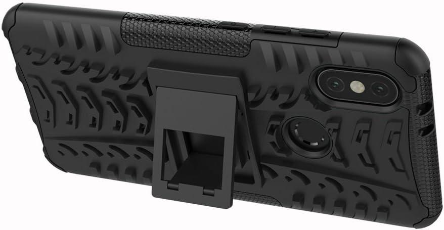 Xiaomi Mi 6X Tyre Pattern Design Heavy Duty Tough Armor Extreme Protection Case With Kickstand Shock Absorbing Detachable 2 in 1 Case Cover For Xiaomi Mi A2 Hyun Blue MRSTER Xiaomi Mi A2 Case