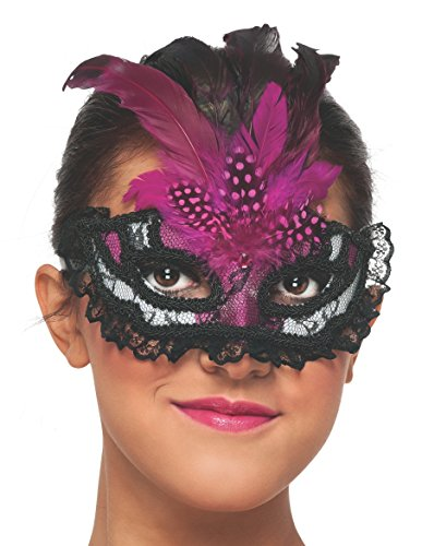 Tumblr Halloween Costumes (Rubie's Costume Women's Pink Lace Mask, Pink, One Size)