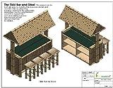 Tiki Bar Bamboo Construction Plans. Outdoor Bamboo Tiki Bar. Pool Side Bar
