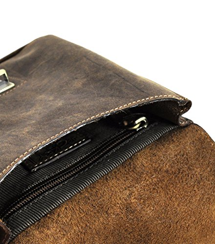 Leder Gürteltasche Bikertasche Hüfttasche Bauchtasche Vintage Hunterleder mit abnehmbaren Schultergurt Hirsch