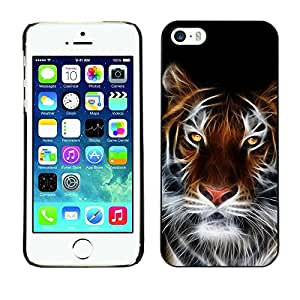 LECELL -- Funda protectora / Cubierta / Piel For Apple iPhone 5 / 5S -- Fierce Magical Tiger --