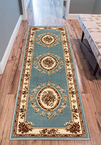 Well Woven Timeless Le Petit Palais Light Blue Traditional Area Rug 2 7 X 12 Runner