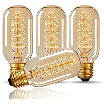 this item vintage antique light bulbs warm white tubular style bulb amber glass volts filament canada home depot uk