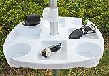 Ammsun TSD1609 17 Inch Plastic Beach Umbrella Table with 4...
