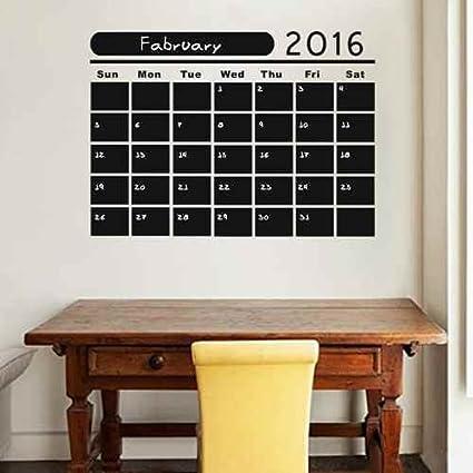 Amazon Com Calendar Decal Chalkboard Wall Decal Monthly Calendar