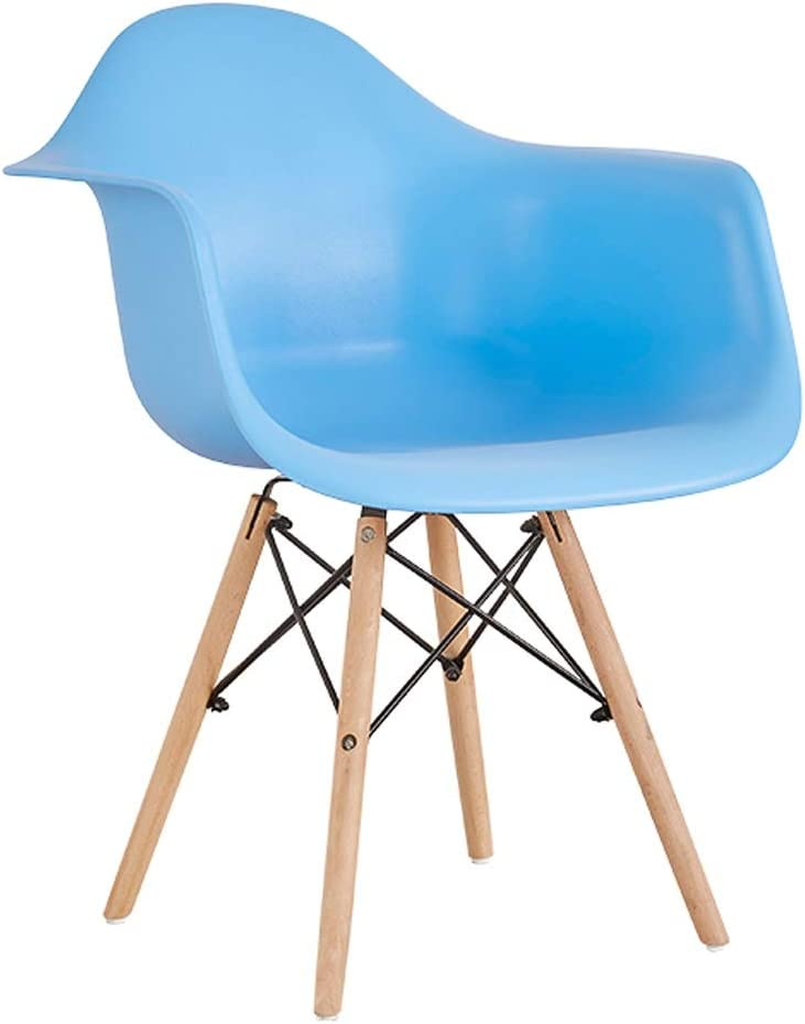 Eetkamerstoel, Simple bureaustoel, Creative rugleuning, Vrije tijd Stoel, Home Adult Dineren Stoel (Color : Green) Blue
