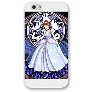 Customized White Frosted Disney Princess Cinderella iphone 5s Case, Only fitiphone 5s
