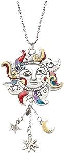 1 X Celestial Sun Hand-Painted Car Charm Ornament