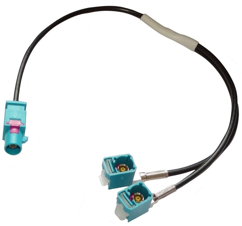 vehiculos C11944 Conector adaptador enchufe antena FAKRA MFD2 RNS-300 para coche AERZETIX