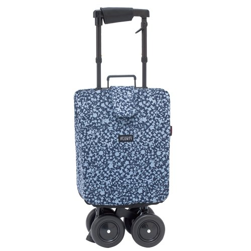 象印ベビー シルバーカート キャリーステッキライトプレンティ 花柄ブルー CSLPR-FBL [カラー:花柄ブルー] B018TN5GN0  花柄ブルー