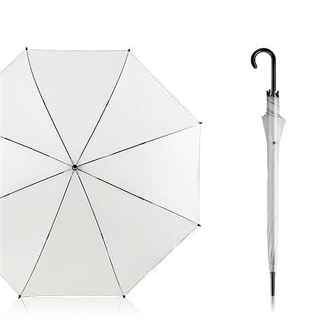 Guoke Paraguas Transparente Pequeños Hombres Y Mujeres Frescas, Doblar El Tallo Largo Doble Grande Aumentar