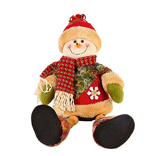 Price comparison product image Midress Christmas Plush Toy Doll,Santa Claus Elk Snowman 43cm Animated Plush Toy Doll Stuffed Animal Xmas Gift&Birthday Gifts (C)