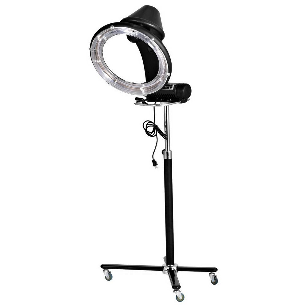 FDegage Professional 1300W Adjustable Hooded Floor Hair Bonnet Dryer Stand Up Rolling Base with Wheels Salon Equipment (#1)