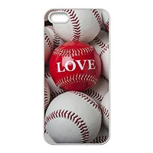 baseball Unique Design Cover Case with Hard Shell Protection for Iphone 5,5S Case lxa#243223