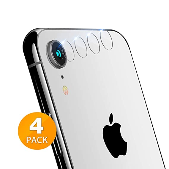 buy popular 05073 bcf97 Tensea iPhone XR Camera Lens Protector, [4 Pack] Ultra Thin Clear Tempered  Glass Back Screen Protector for iPhone XR 6.1 inch, Anti-Fingerprint, ...