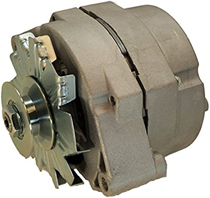 DJS Tractor Parts / 63 Amp One Wire Alternator with Pulley - Used for  converting 6 volt to 12 volt - AB-418D