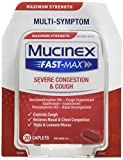 Mucinex Fast-Max Adult Caplets, Severe Congestion & Cough Relief, 20 Count