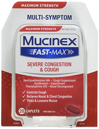 Mucinex Fast-Max Severe Congestion & Cough Caplets, 20ct - Maximum Caplets