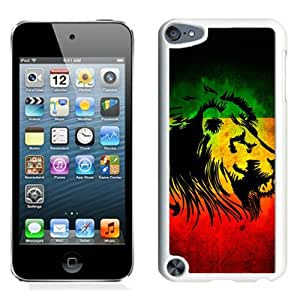 Beautiful And Unique Designed Case For iPod Touch 5 With Rasta Lion White Phone Case