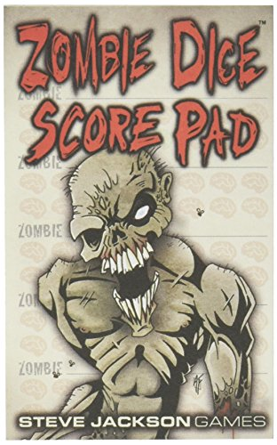 Zombie Dice Score Pad Game