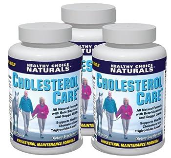 Cholesterol Care Supplement – All Natural Formula (3 bottles/180 Tablets)