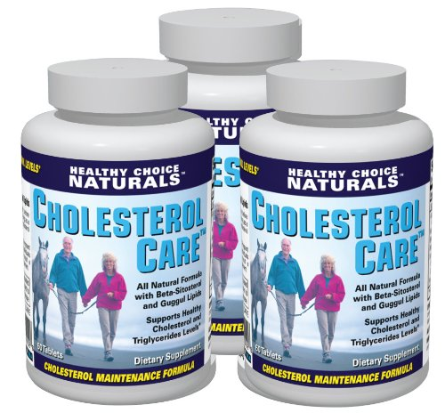 Cholesterol Care Supplement – All Natural Formula (3 bottles/180 Tablets)