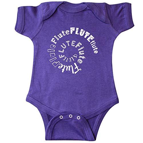 inktastic - Flute White Spiral White Text Infant Creeper Newborn Purple 333a6 ()