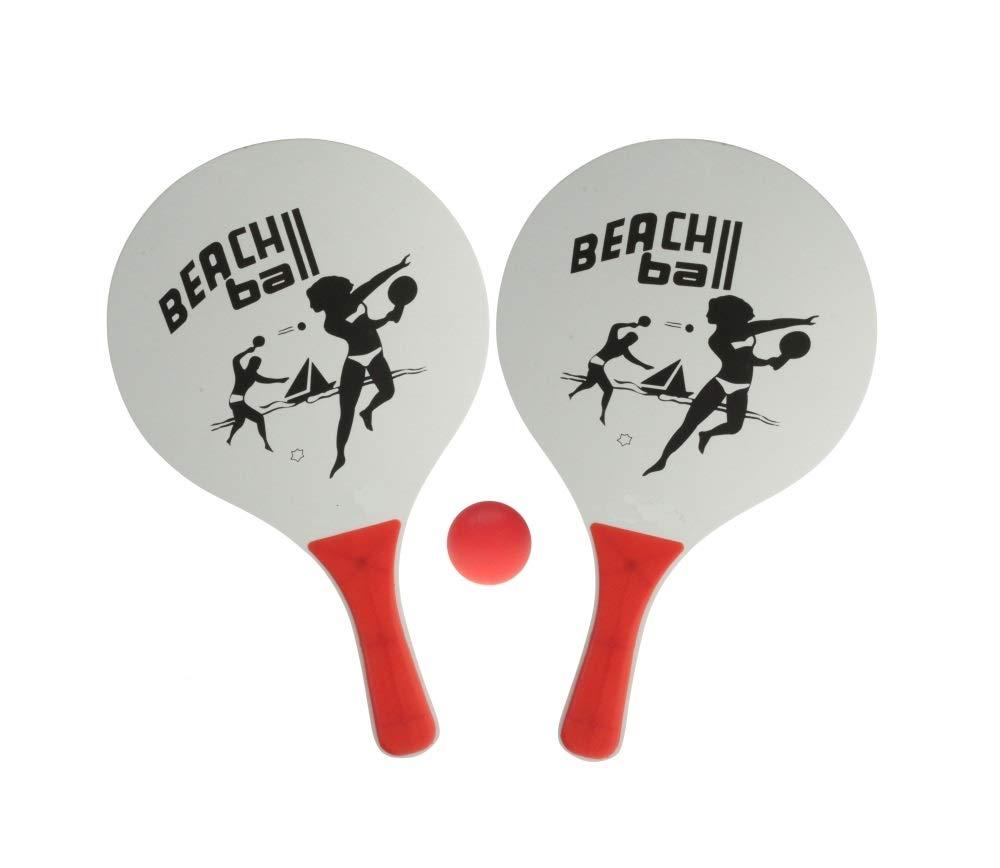 Sonnenscheinschuhe® - Juego de Pelotas de Playa (2 Raquetas y 1 ...