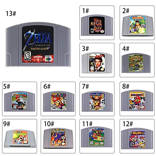 Lovelystar Video Game Cartridge Card, for Nintendo 64 N64 Mario Smash Bros Zelda Video Game Cartridge Console Card 64 Bit Games English Language US Version