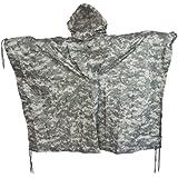 Brand New Fashion Us Waterproof Hooded Ripstop Wet Festival Rain Poncho At-Digital Camo