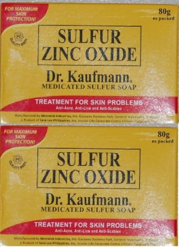 Lot of 2 Dr. Kaufmann Medicated Sulfur Soap